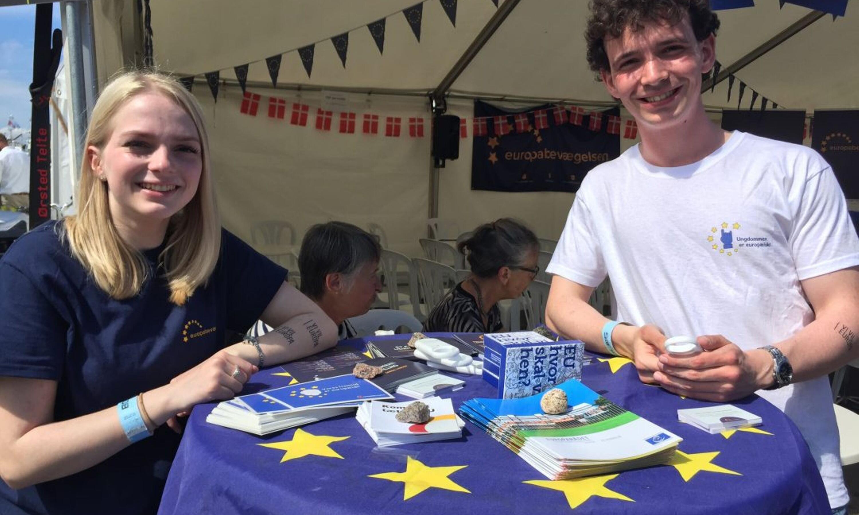Europabevægelsens telt på Folkemødet