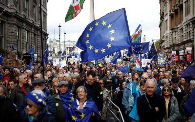 Vi var med, da briterne protesterede mod Brexit