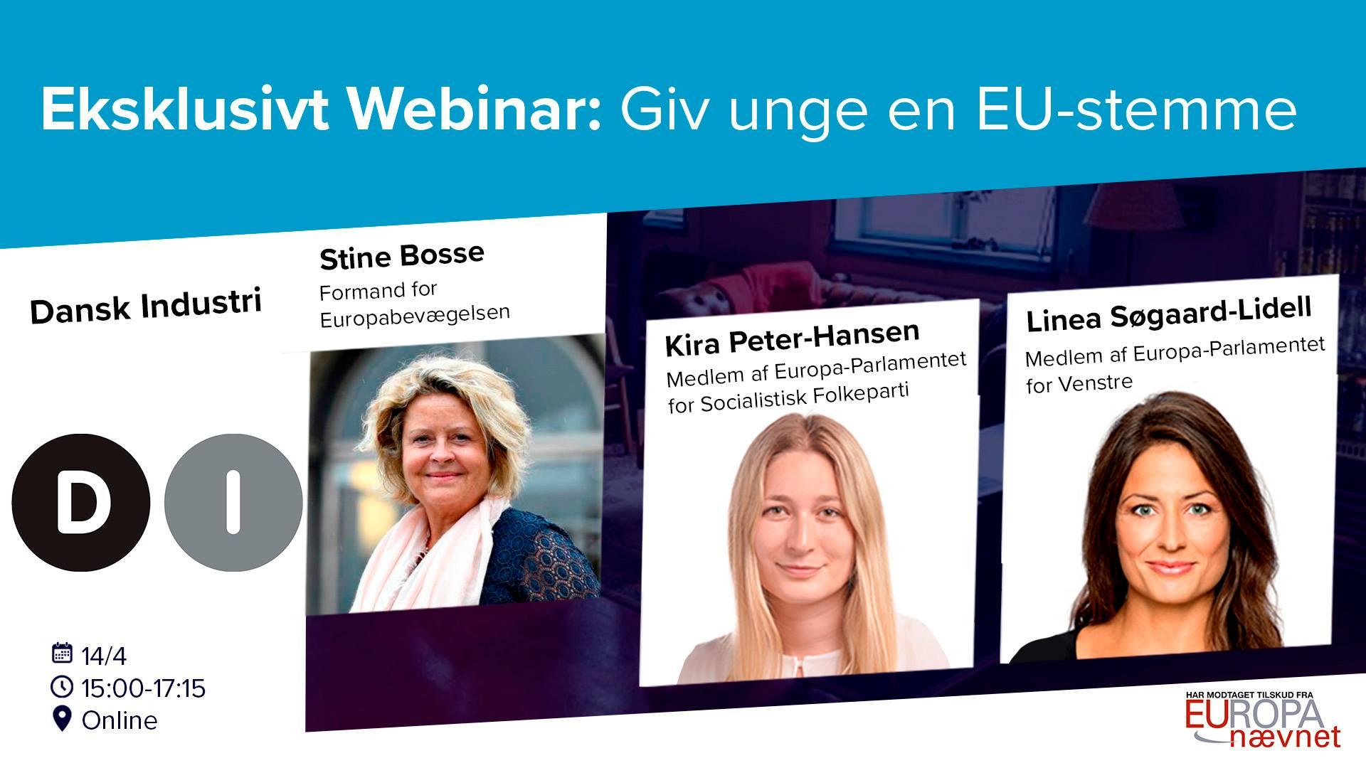 Webinar: Giv unge en EU-stemme!