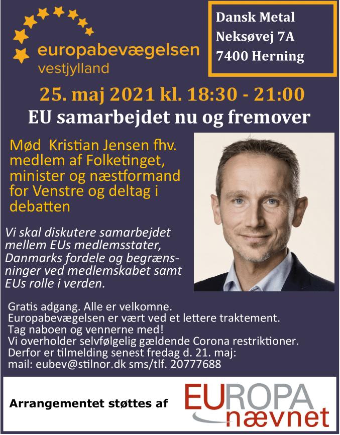 Debatmøde m. Kristian Jensen: EU samarbejdet nu og fremover