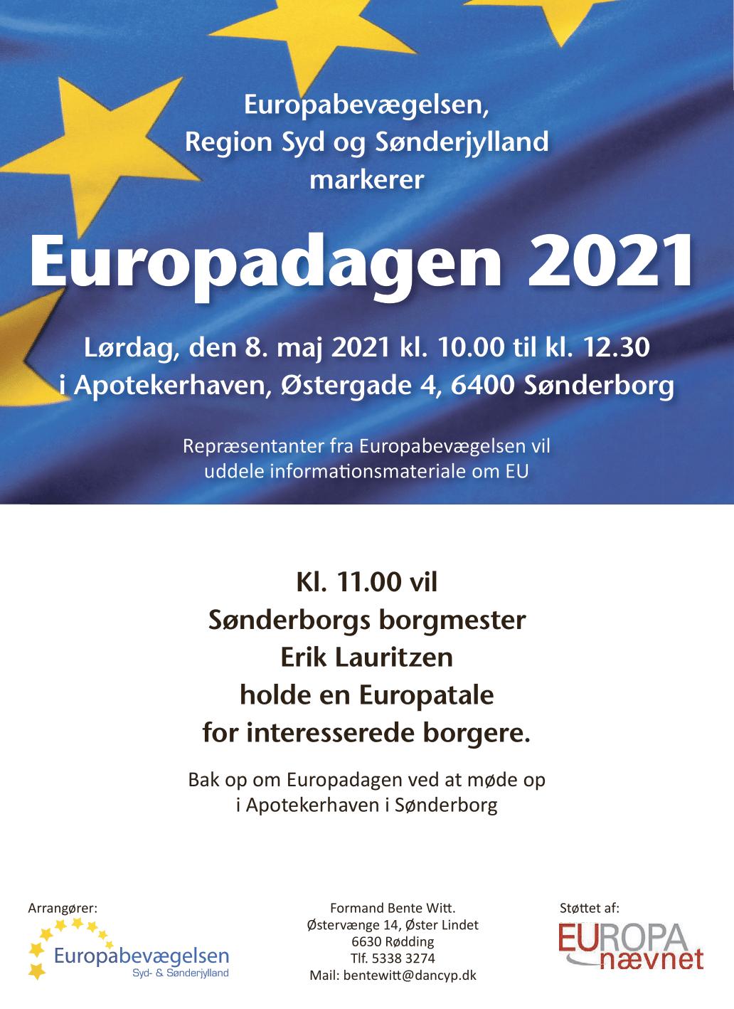 Syd- og Sønderjylland markerer Europadagen 2021