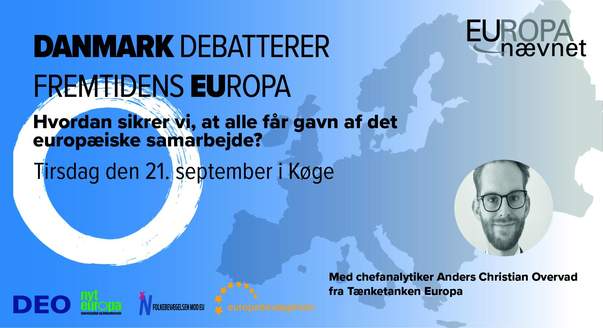 Vi debatterer Europas fremtid i Køge – social retfærdighed og økonomisk genopretning